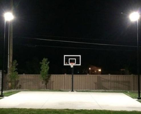 led pole light heads